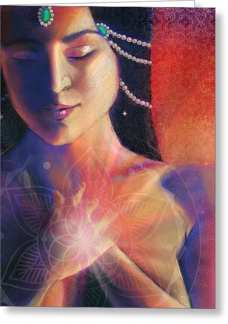 Hindu Goddess Greeting Cards - Bliss  Greeting Card by Lucinda  Rae