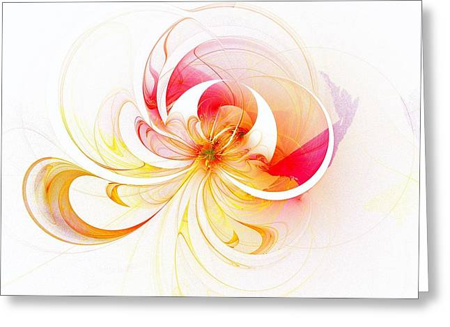 Floral Digital Art Digital Art Greeting Cards - Blissful Greeting Card by Amanda Moore