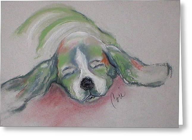 Puppies Pastels Greeting Cards - Blissful Dreams III Greeting Card by Cori Solomon