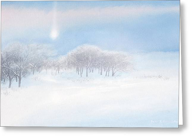 Drifting Snow Paintings Greeting Cards - Blizzard Coming Greeting Card by Lynn Hansen