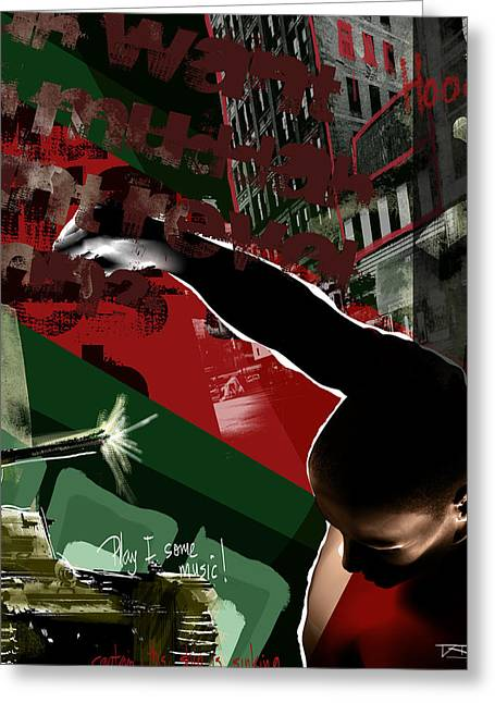 Conscious Digital Art Greeting Cards - BlkPwr Greeting Card by David James