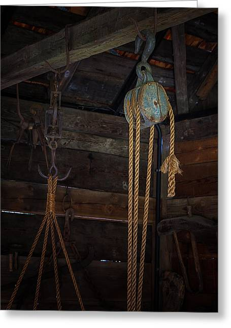 Ruston Greeting Cards - Block and Tackle Greeting Card by Thomas Hall Photography