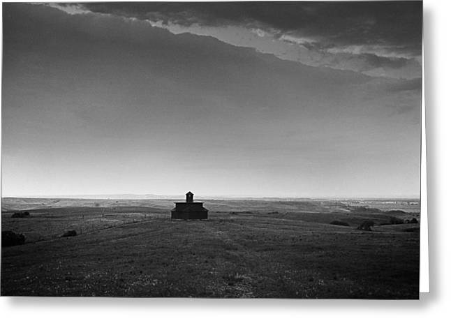 General Custer Greeting Cards - Block House at Fort Abraham Lincoln - North Dakota Greeting Card by Donald  Erickson