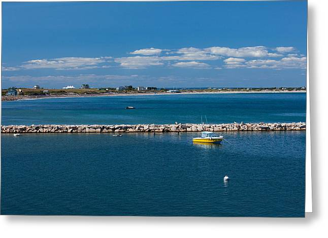 Bluesky Greeting Cards - Block Island Blue Greeting Card by Karol  Livote