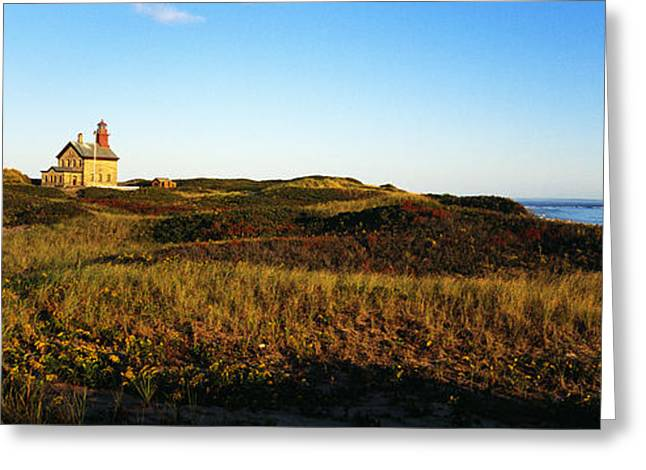 Ocean Landscape Greeting Cards - Block Island Lighthouse Rhode Island Usa Greeting Card by Panoramic Images