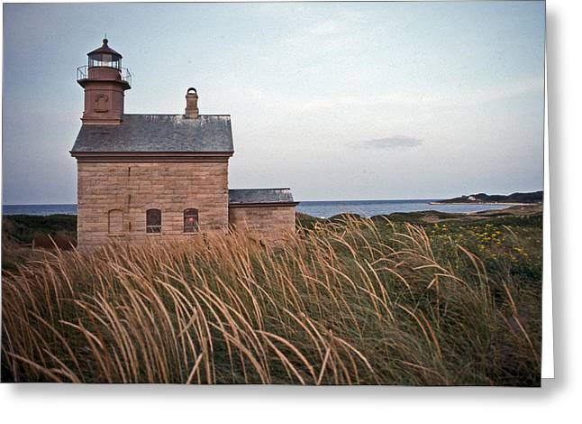 New England Lighthouse Photographs Greeting Cards - Block Island North West Lighthouse Greeting Card by Skip Willits