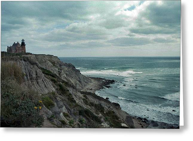 Beautiful Vistas Greeting Cards - Block Island South East Lighthouse Greeting Card by Skip Willits