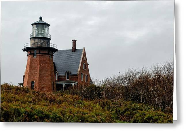 Block Island Southeast Lighthouse Greeting Card by Nancy  de Flon