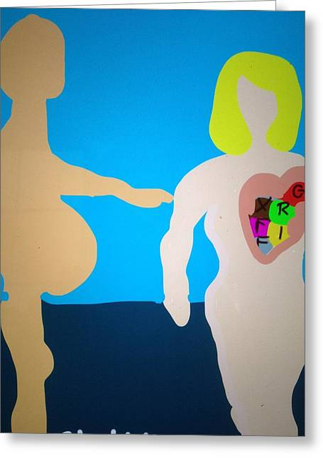 Divorce Greeting Cards - Blockage Greeting Card by Erika Chamberlin