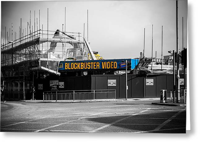 Rentals Greeting Cards - Blockbuster demise Greeting Card by Ian Hufton