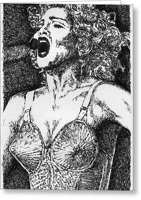 Ambition Drawings Greeting Cards - Blond Ambition Greeting Card by Kimmo Matias
