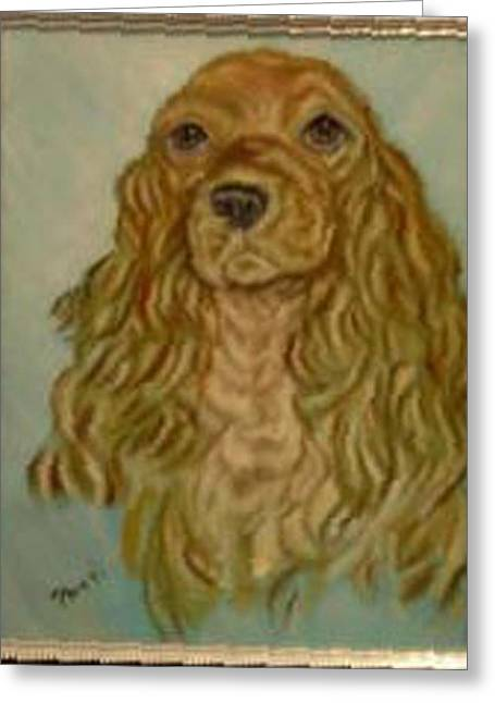 Pat Mchale Greeting Cards - Blonde Cocker Greeting Card by Pat Mchale