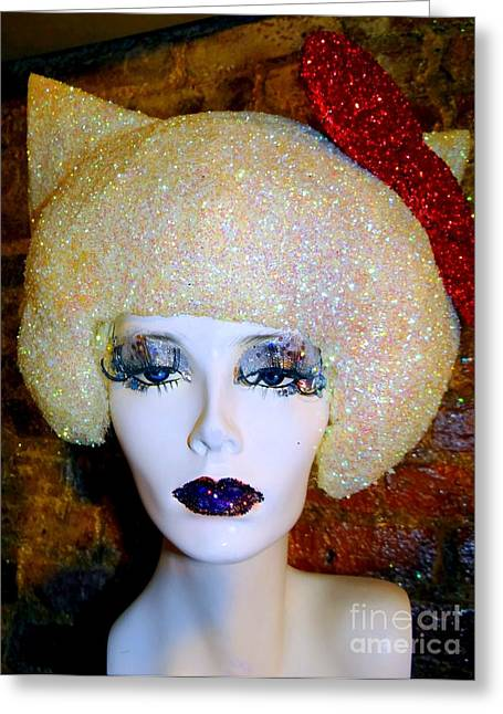 Blonde Fro Greeting Card by Ed Weidman