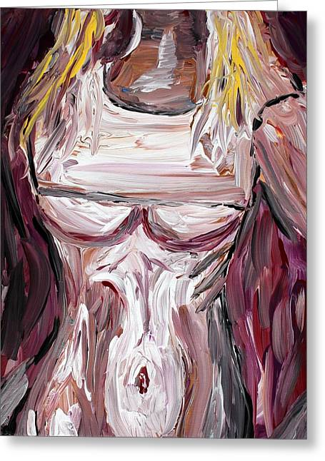 Bellybutton Greeting Cards - Blonde T Greeting Card by Mark Stiles