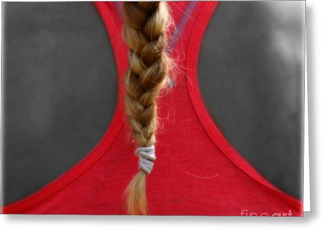 Photos With Red Greeting Cards - Blonde Tail  Greeting Card by Steven  Digman