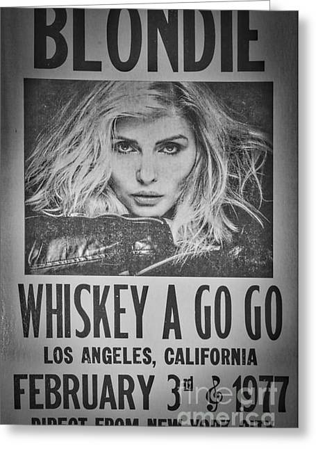 Blondie At The Whiskey A Go Go Greeting Card by Mitch Shindelbower