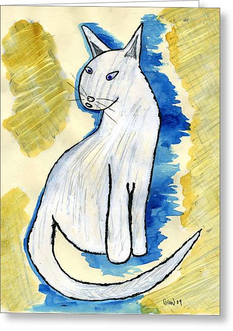 Here Kitty Greeting Cards - Blondie Cat Greeting Card by William Blood