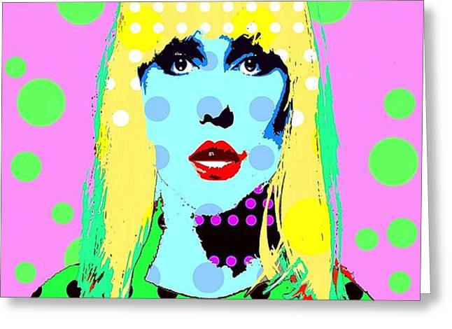 Blondie Greeting Card by Ricky Sencion