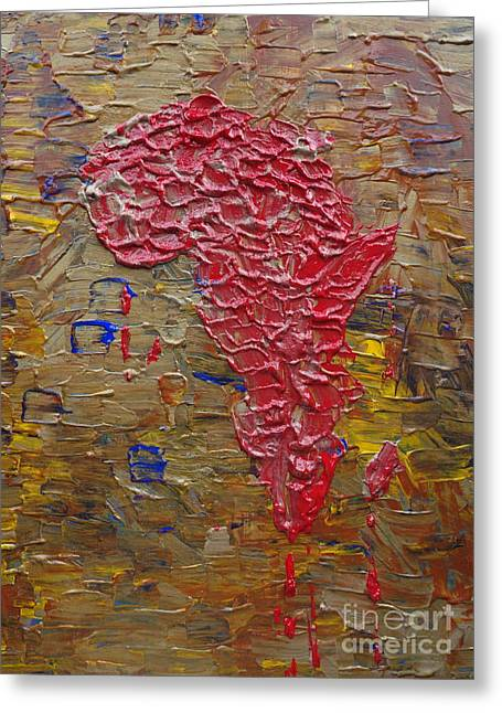Phosphate Group Greeting Cards - Blood Africa Greeting Card by Jacqueline Athmann