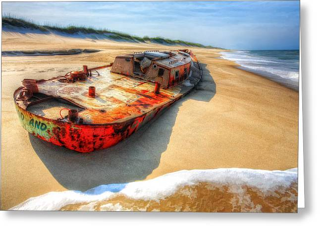 Storm Prints Photographs Greeting Cards - Blood and Guts II - Outer Banks Greeting Card by Dan Carmichael