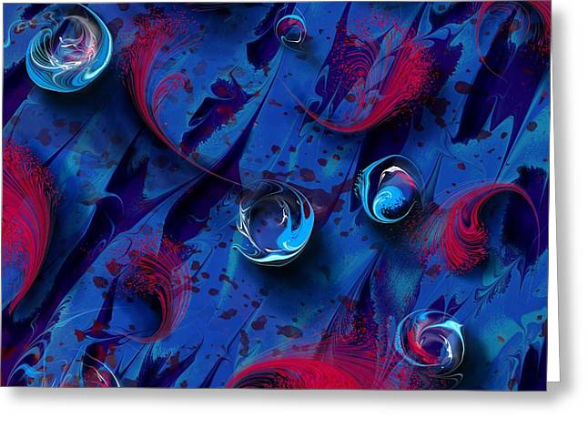 Torment Digital Greeting Cards - Blood And Tears Greeting Card by Rachel Christine Nowicki