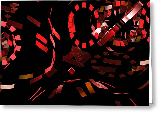 Biological Digital Art Greeting Cards - Blood Chemistry by jammer Greeting Card by First Star Art