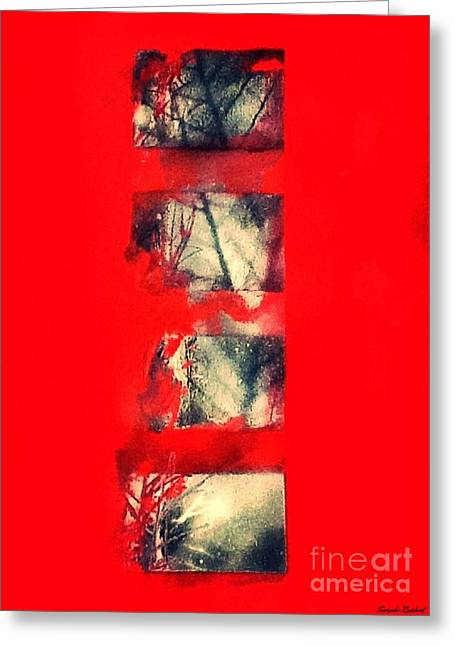 Murder Mixed Media Greeting Cards - Blood Forest Greeting Card by Sarah  Rachel