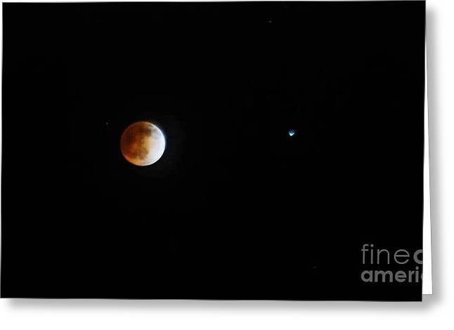 Passover Moon Greeting Cards - BLooD iS TransFusinG Greeting Card by Angela J Wright