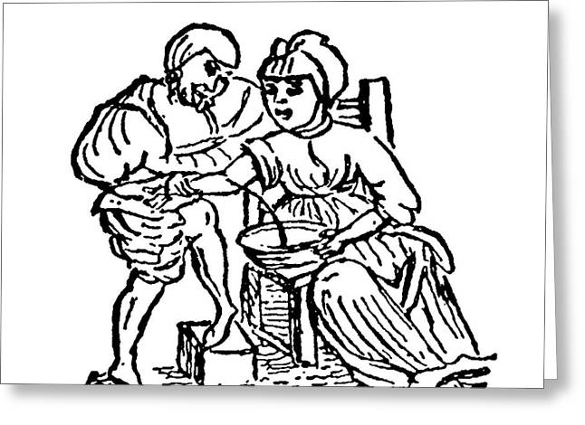 Blood Letting As A Cure Greeting Card by Universal History Archive/uig