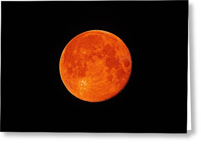 Blood Moon Greeting Cards - Blood Moon Eclipse Greeting Card by Andy McAfee
