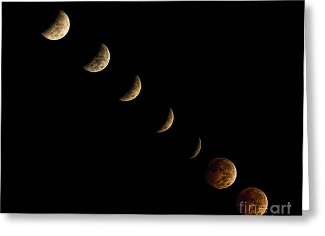 Blood Moon Greeting Card by James Dean