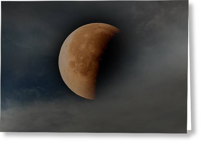 Blood Moon Greeting Cards - Blood Moon Greeting Card by Joseph G Holland