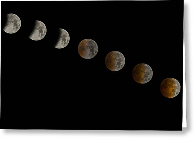 Lunar Greeting Cards - Blood Moon Eclipse Greeting Card by Jeremy Jensen