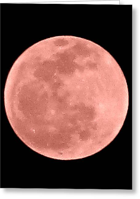 Blood Moon Greeting Cards - Blood Moon Greeting Card by Randall Weidner