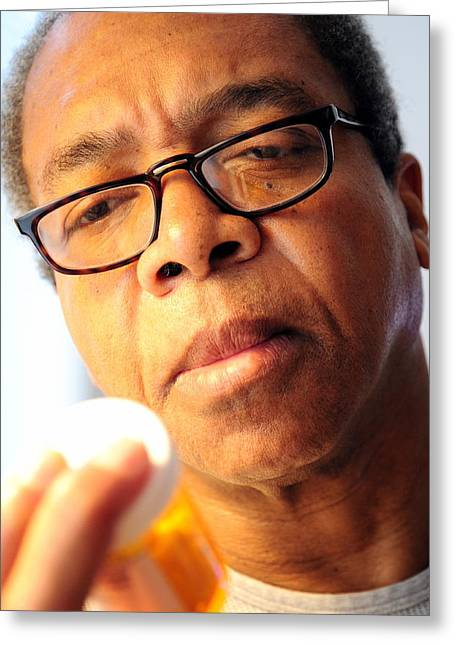 African American Diet Greeting Cards - Blood pressure pills. Greeting Card by Oscar Williams
