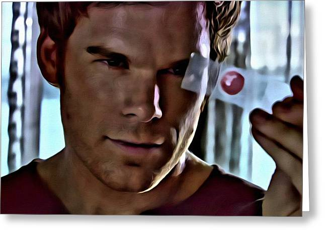 Blood Slide Dexter Greeting Card by Florian Rodarte
