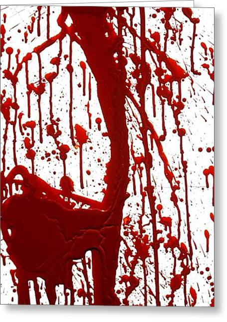 Dexter Greeting Cards - Blood Splatter II Greeting Card by Holly Anderson