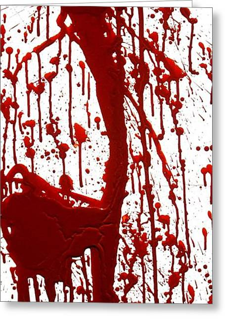 Blood Splatter Greeting Cards - Blood Splatter II Greeting Card by Holly Anderson