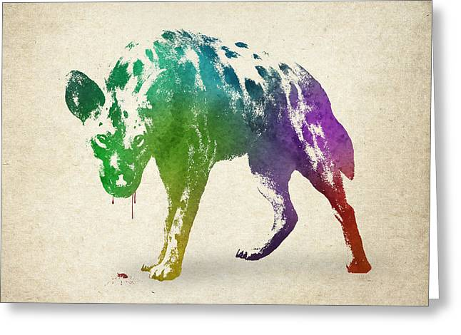 Blood Splatter Greeting Cards - Blood Thirsty Greeting Card by Aged Pixel