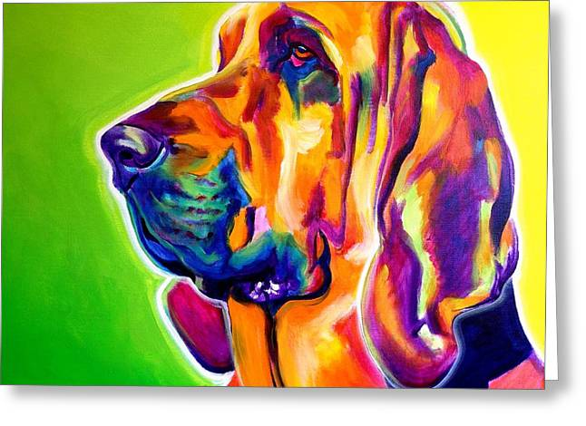 Bloodhounds Greeting Cards - Bloodhound - Sunlight Greeting Card by Alicia VanNoy Call
