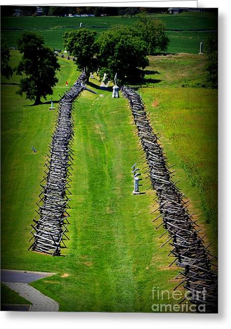 Civil War Battle Site Greeting Cards - Bloody Lane Antietam Greeting Card by Patti Whitten
