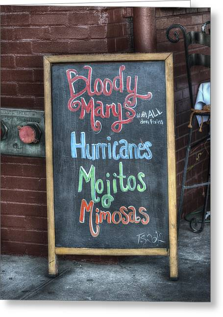 Brenda Bryant Photography Greeting Cards - Bloody Marys Greeting Card by Brenda Bryant
