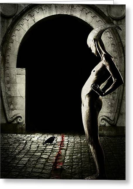 Portal Digital Greeting Cards - Bloody monday Greeting Card by Johan Lilja