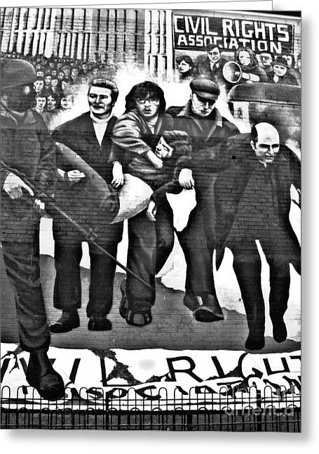 Republican Greeting Cards - Bloody Sunday Original Mural  Greeting Card by Nina Ficur Feenan