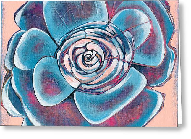 Succulents Greeting Cards - Bloom I Greeting Card by Shadia Zayed
