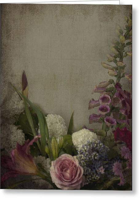 Snowball Mixed Media Greeting Cards - Flowers  Greeting Card by Kim Clark