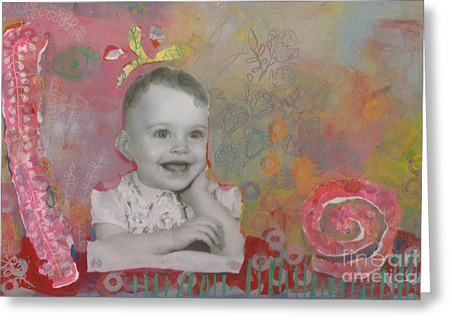 Self-portrait Greeting Cards - Bloom Greeting Card by Kimberly Santini