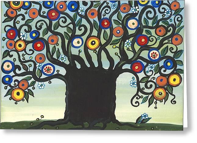 Ukrainian Prints Greeting Cards - Bloom Greeting Card by Margaryta Yermolayeva