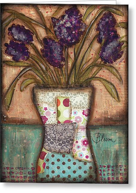 Flower Blooms Mixed Media Greeting Cards - Bloom Greeting Card by Shawn Petite