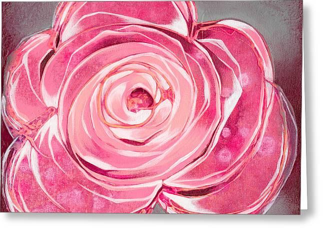 Magenta Fuchsia Greeting Cards - Bloom V Greeting Card by Shadia Zayed